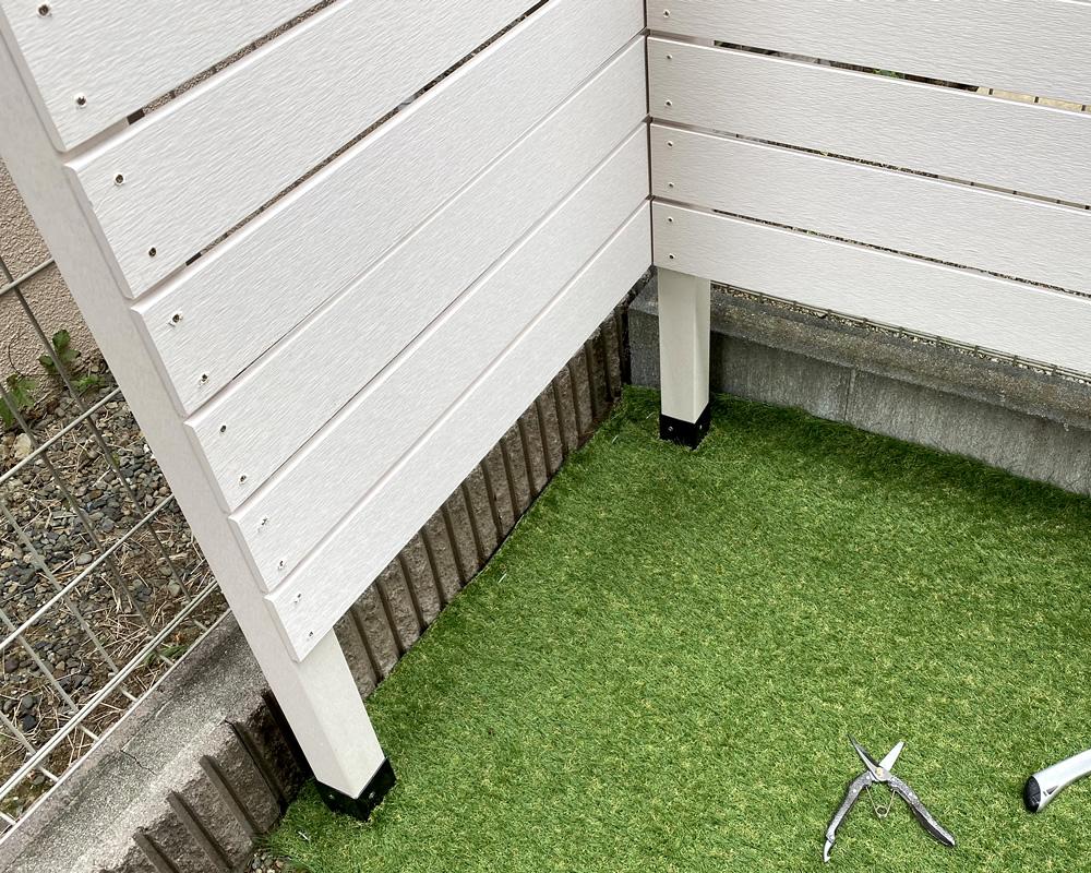 人工芝を設置