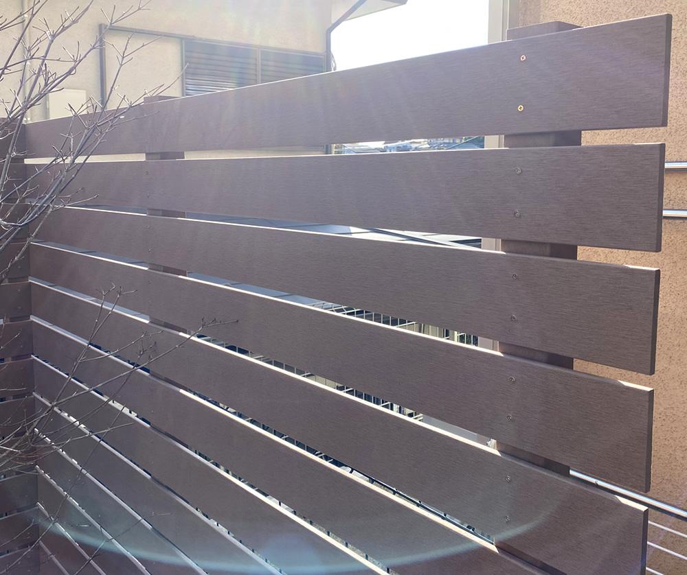 人工木材の拡大写真